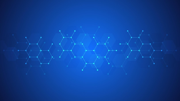 Abstract background of molecules. Premium Vector