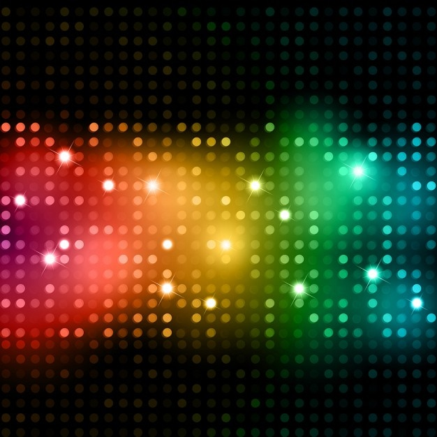 Abstract background of brightly coloured\ lights