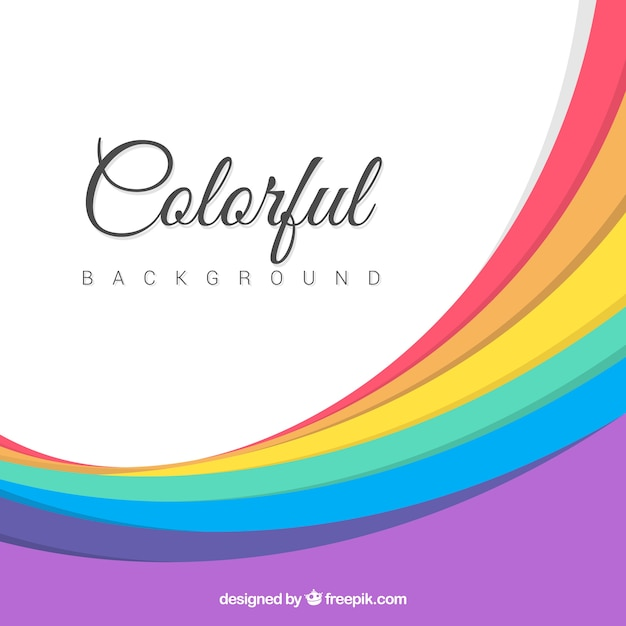 Abstract background of colorful curves
