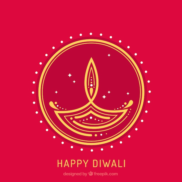 Abstract background of diwali candle