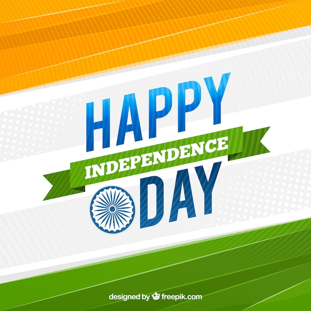 Abstract background of happy india independence day