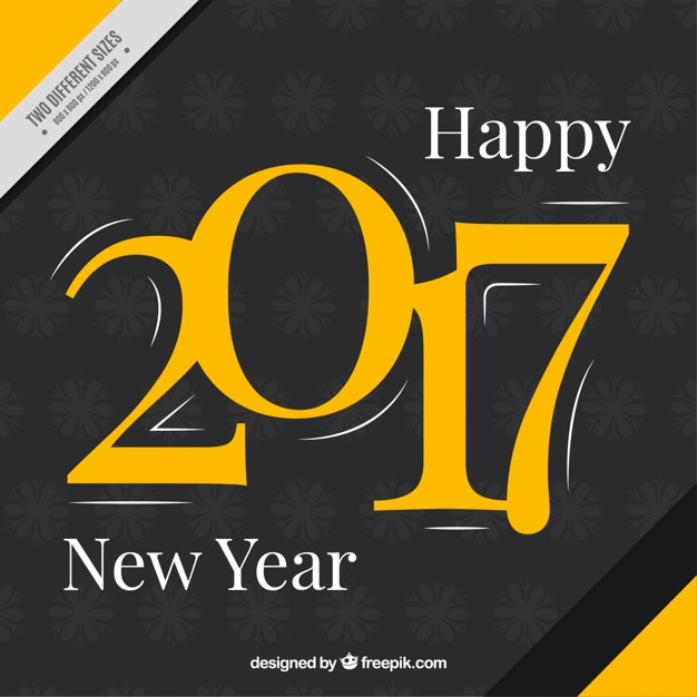 Abstract background of happy new year\ 2017