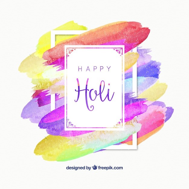 Abstract background of holi colors