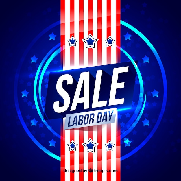 Abstract background of labor day sales