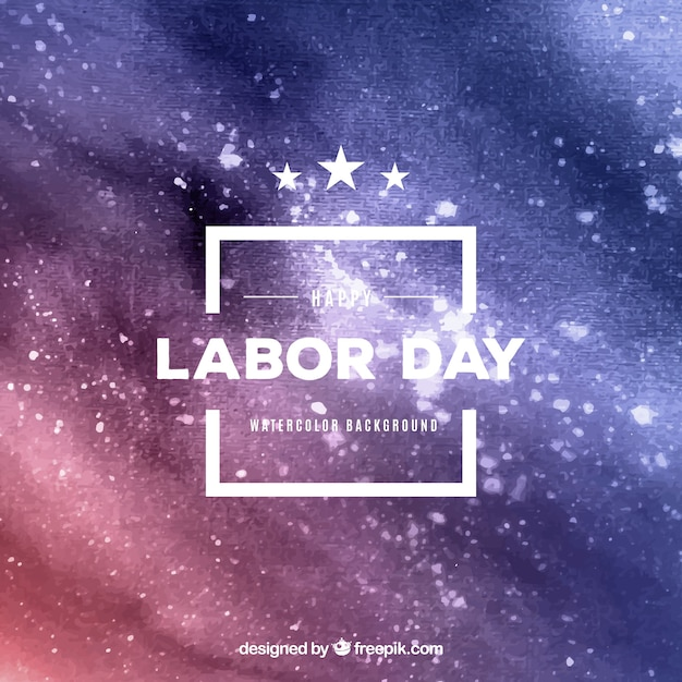 Abstract background of labor day watercolor