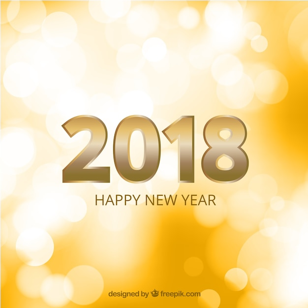 Abstract background of new year 2018