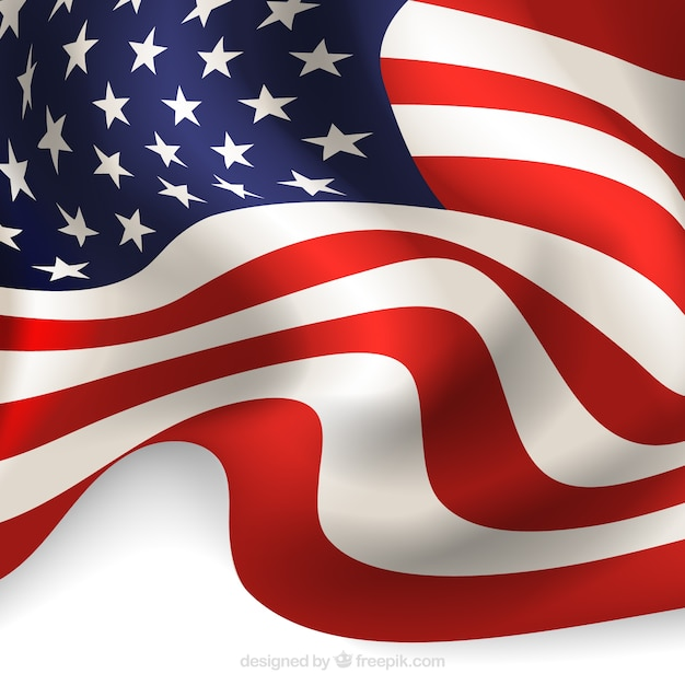 Abstract background of realistic american flag