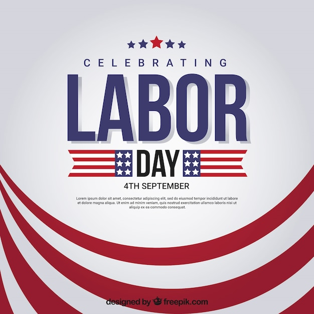 Abstract background of red labor day stripes