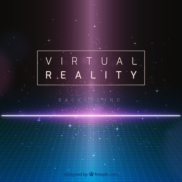 Abstract background of virtual reality Premium Vector
