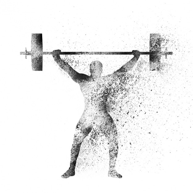 abstract background of weight lifting vector