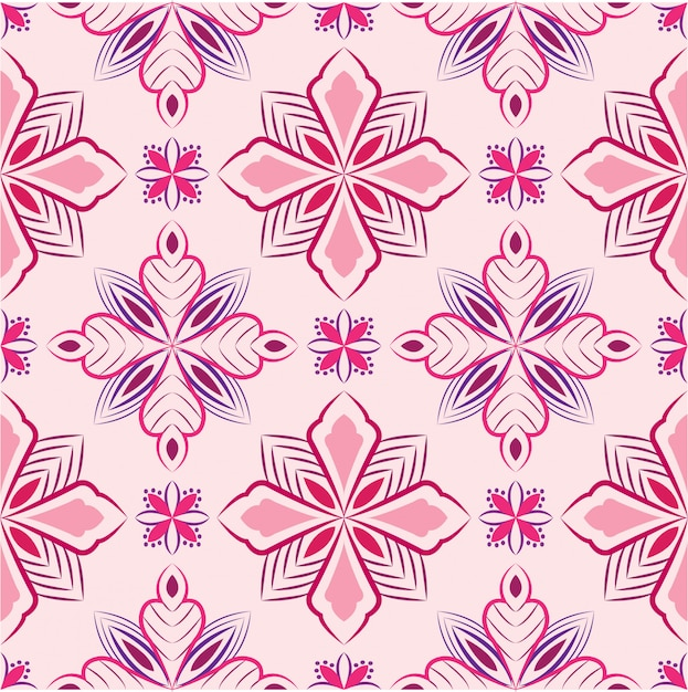 Abstract background ornament illustration. seamless pattern with flowers Premium Vector