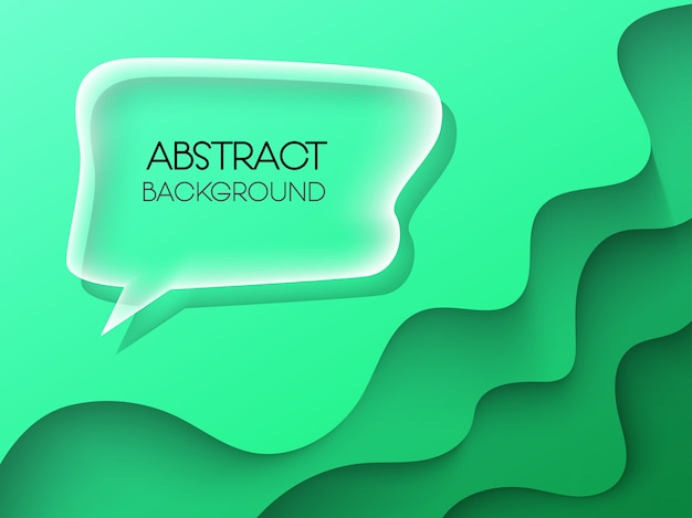 Abstract background papercut with colorful Premium Vector