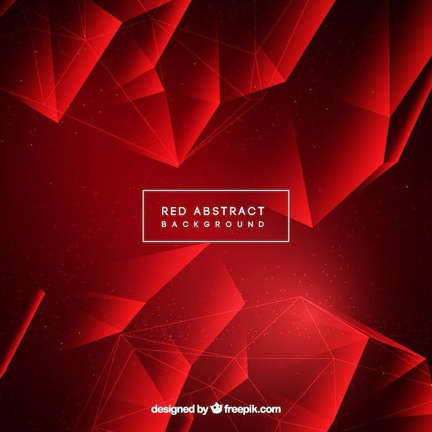 Abstract background in red color Free Vector