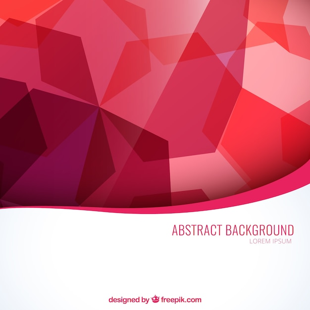 Abstract Background In Red Tones Vector Free Download