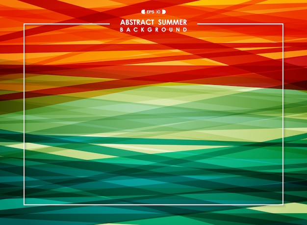 Abstract background of summer coloful stripe line. Premium Vector