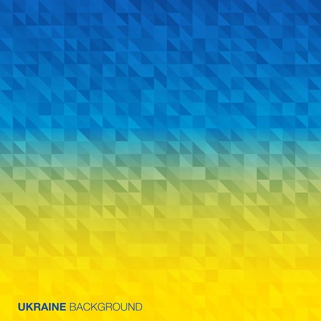 Абстрактный фон с использованием цветов флага украины Premium векторы