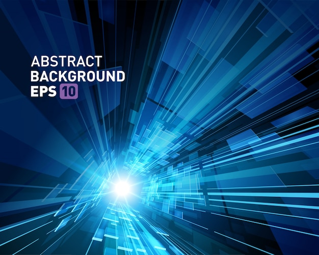 Abstract background virtual reality 3d space grid effect. Premium Vector