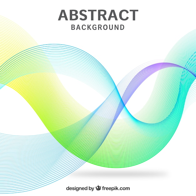 Abstract background, wavy shapes