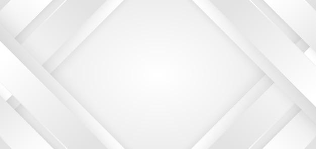 추상적 인 배경 흰색과 회색 대각선 줄무늬 프리미엄 벡터