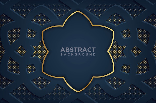Abstract background with 3d paper art style. Premium Vector