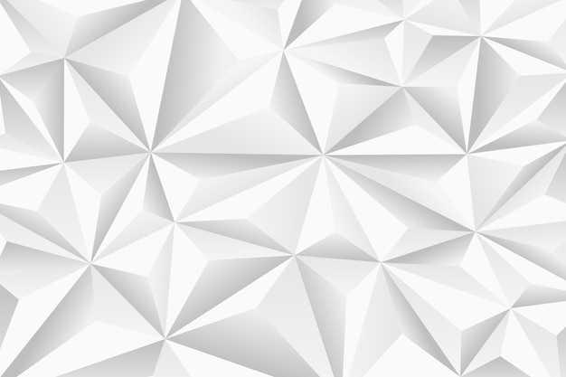Abstract background with 3d polygons Free Vector