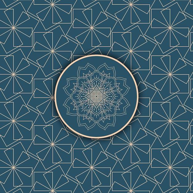 装飾的なパターンデザインと抽象的な背景 無料ベクター