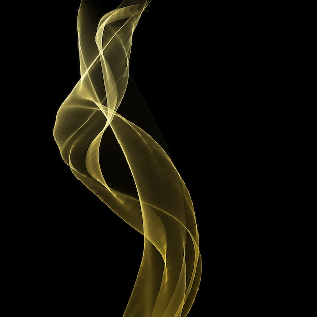 황금 흐르는 파도 디자인으로 추상적 인 배경 무료 벡터