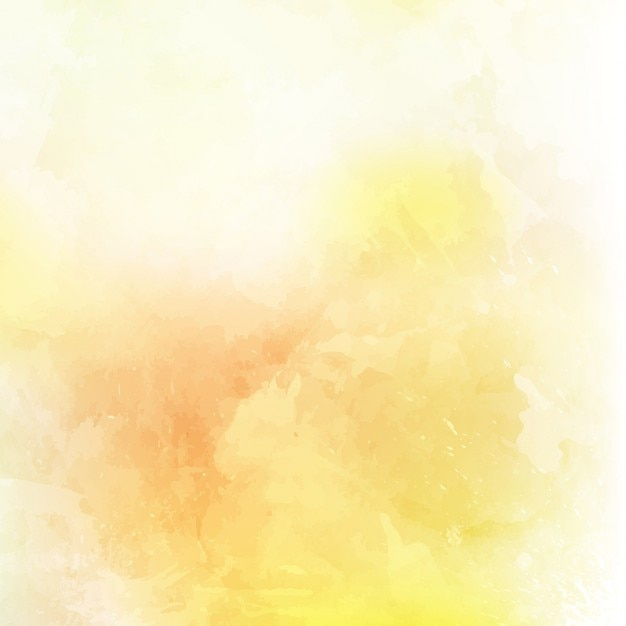 Abstract background with a yellow watercolor texture Free Vector