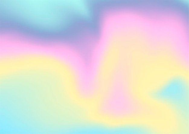 무지개 빛깔의 홀로그램 디자인으로 추상적 인 배경 무료 벡터