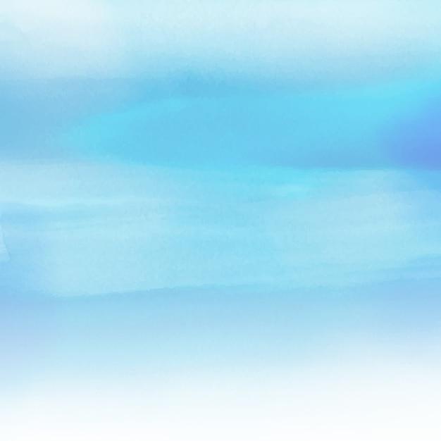 바다 테마 수채화 텍스처와 추상 배경 무료 벡터