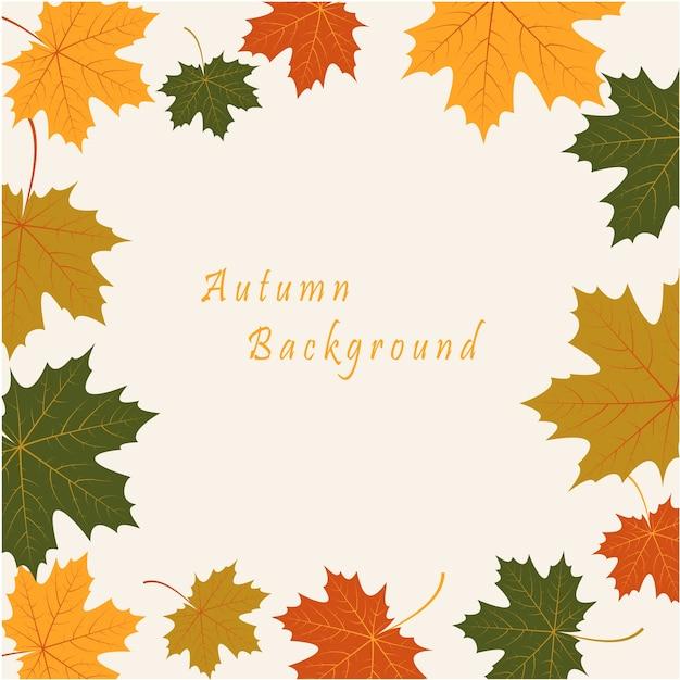 Sfondo astratto con foglie di acero autunno Vettore gratuito