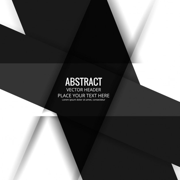 Abstract background with black and white\ geometric shapes