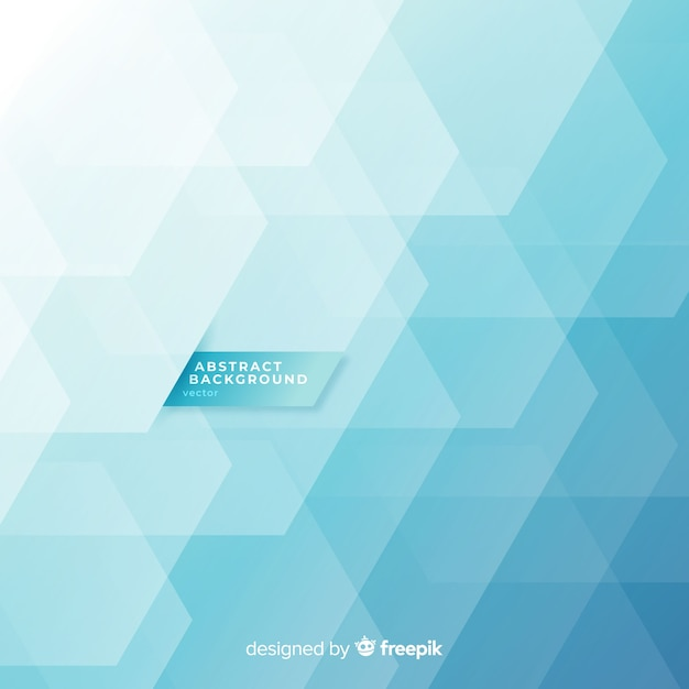 Abstract background with blue geometric shapes Free Vector