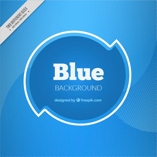Abstract background with blue halftone dots Free Vector