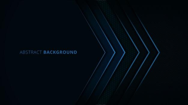 青い光と炭素の詳細と抽象的な背景 Premiumベクター