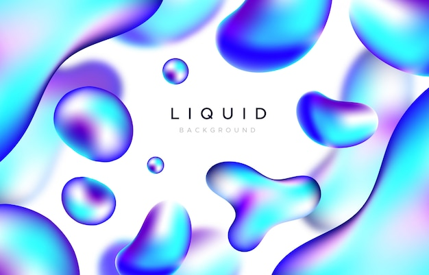 Abstract background with blue liquid shapes Free Vector