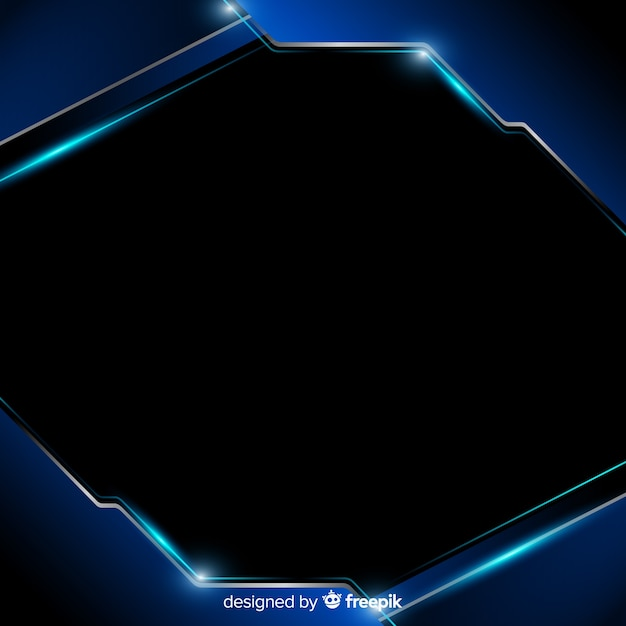 Abstract background with blue metallic shapes Free Vector