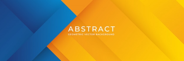 Abstract background with blue and orange gradient composition. Premium Vector