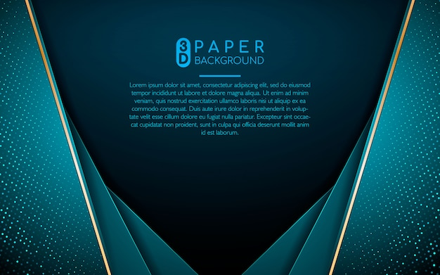 Abstract background with blue overlap layers Premium Vector