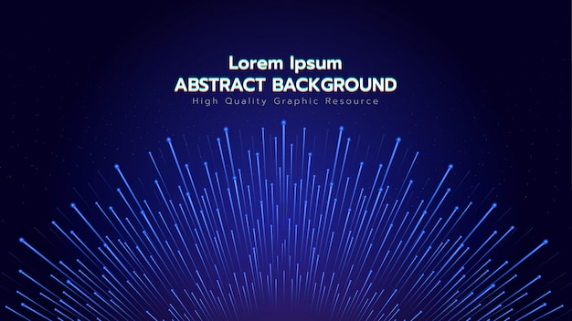 Abstract background with blue particles explosion. illustration about technology and cyber concept. Premium Vector