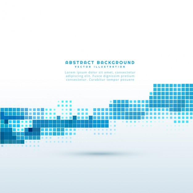 Abstract background with blue pixels Free Vector