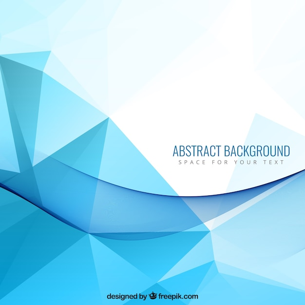 Abstract background with blue polygons Vector | Free Download