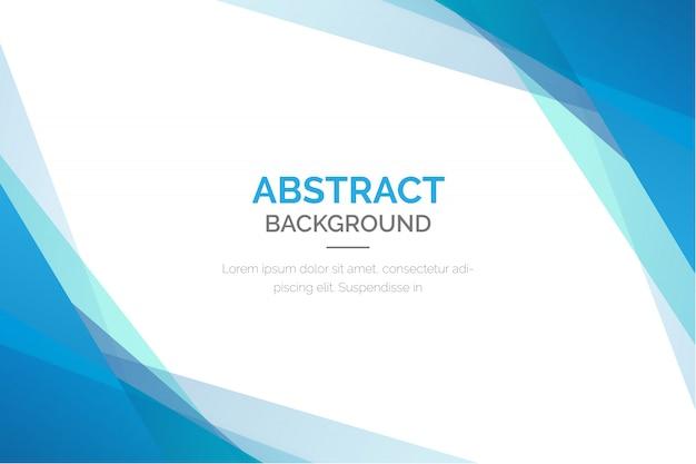 Абстрактный фон с синими фигурами Бесплатные векторы