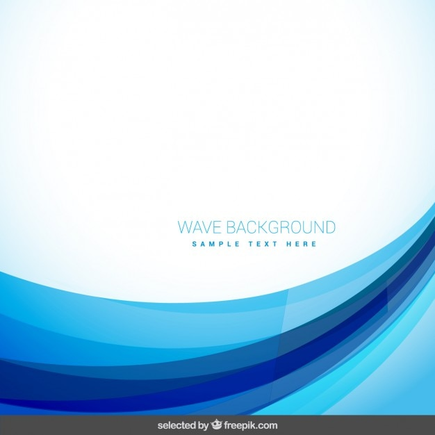Abstract background with blue wave Vector | Free Download