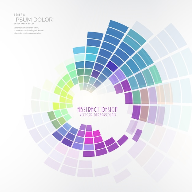 Abstract background with circular color palette Free Vector