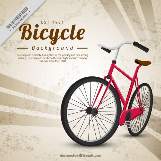 Abstract background with a classic bicycle Free Vector