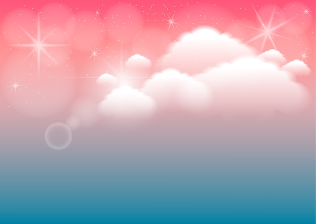 Abstract background with cloud Premium Vector