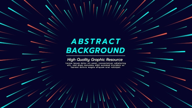 Abstract background with color line in radial form. Premium Vector