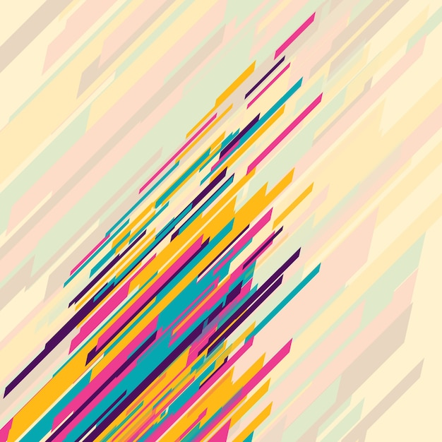 Abstract background with colored lines