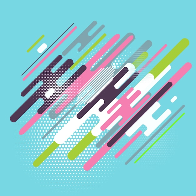 Abstract background with a colorful flat design Free Vector